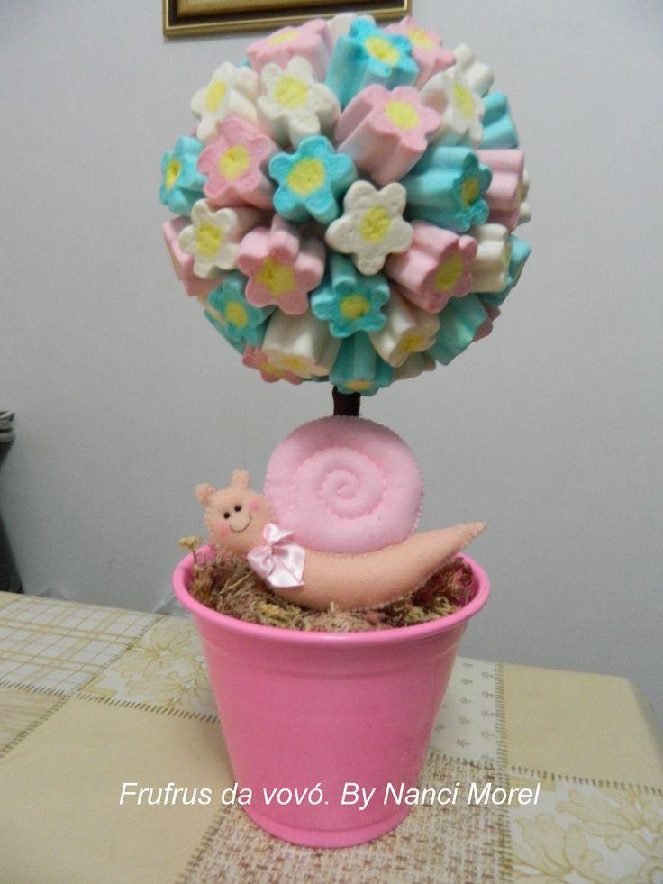 decoracao quarto de bebe jardim encantado : decoracao quarto de bebe jardim encantado:Um caracol para a mesa da festa. Jardim encantado.
