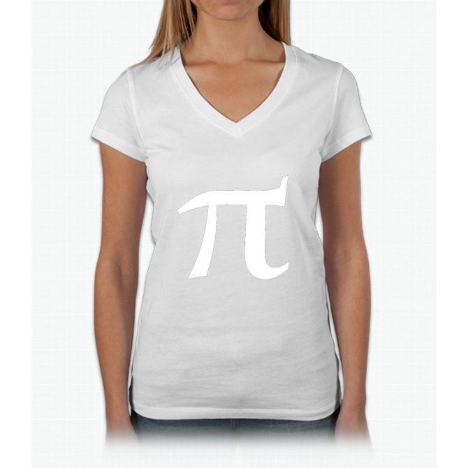 Pi symbol for pi day Womens V-Neck T-Shirt