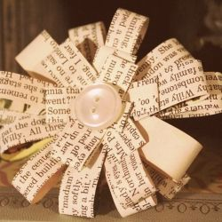 get a little creative with this simple DIY, and make some elegant paper flowers from a used book!