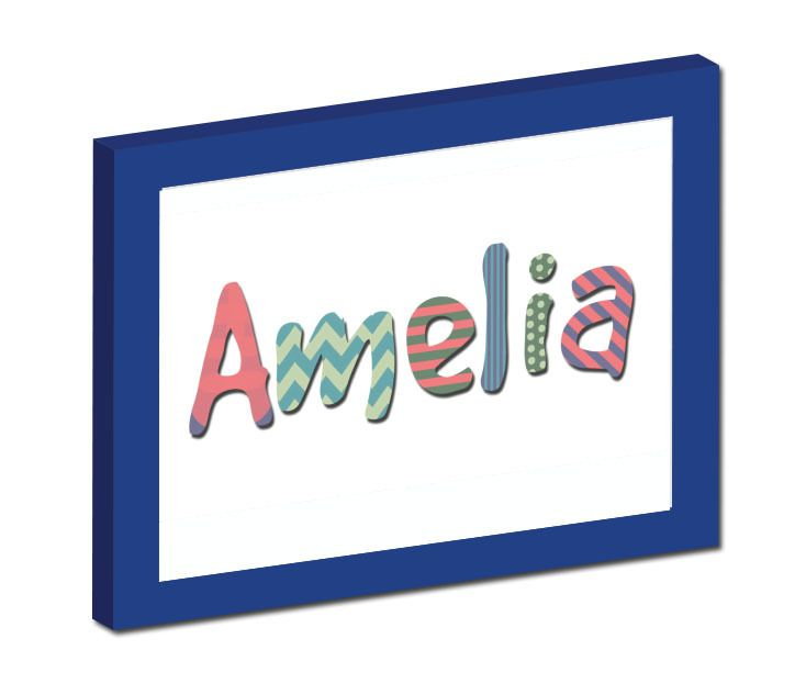 What better way to welcome a new baby into the world than their vey own personalised framed wall art?  Check out Your Name Framed Wall Art- Magame Pallette by Bloo Moose Design.