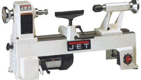 Jet's 1-hp benchtop lathe is also available with variable-speed controls as model No. JML-1014VS.