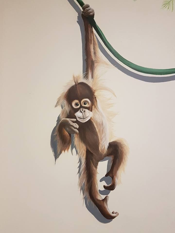 #mural#monkey#wall#paint