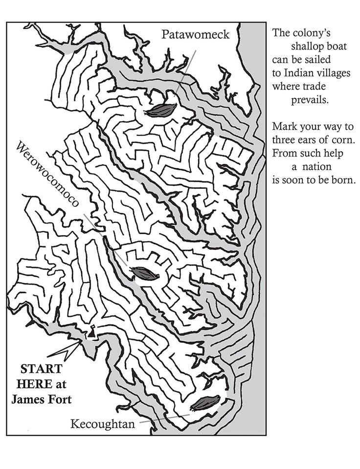 find fun downloadable coloring pages and puzzles on the historic jamestowne website