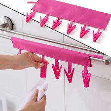 Portable Organizer Hanger Clips Hooks For Hanging Clothes Laundry Cloth Rack