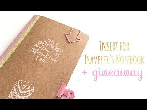 Cómo hacer una libreta para Traveler's Notebook - TUTORIAL DIY + Giveaway - YouTube