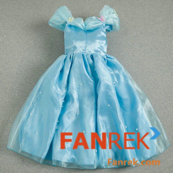 Cinderella 2015 Movie Cosplay Cinderella Kids Dress