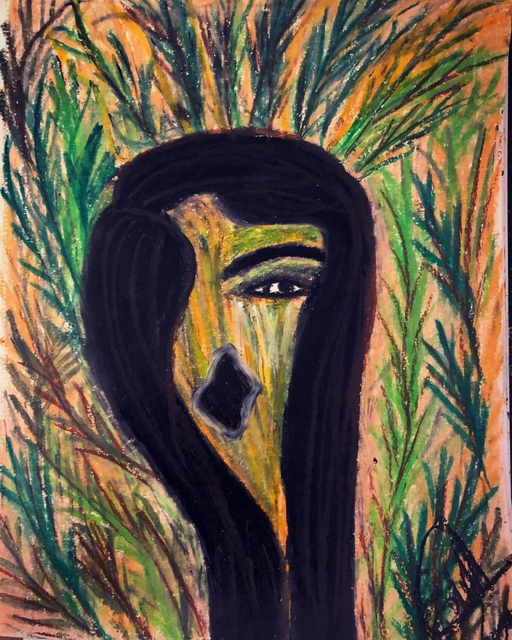 The nature woman. It's incredible that nature cries for help but nobody listens to it.  #edithuloveimagination #naturewoman#lovenature#nature#ecology #cleanenergy#agricultura sostenible y la defensa de la biodiversidad #freshair#2018#drawingandpainting#oilpastel#art#artwork #artistsoninstagram#abstract#abstractartist#artisteraphy#lovemeditation#love#rescue#helpnature#