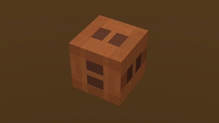CubLoc Wooden Cube Puzzle