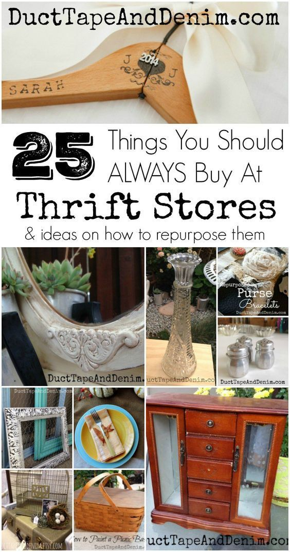 25 Things You Should ALWAYS buy at a thrift stores and ideas on how to repurpose them | DuctTapeAndDenim.com