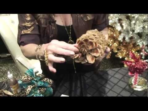 DIY Pinecone Christmas Ornaments by Donna Moss Designs