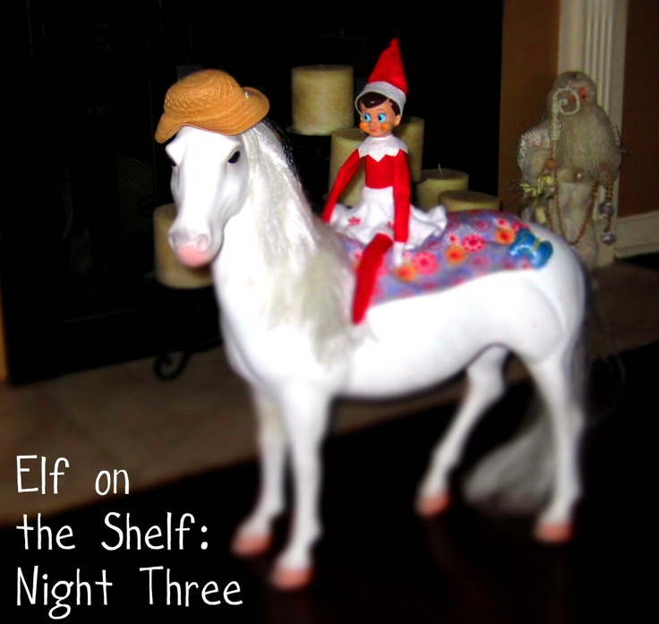 Riding A Horse Elf On The Shelf Elf On The Shelf