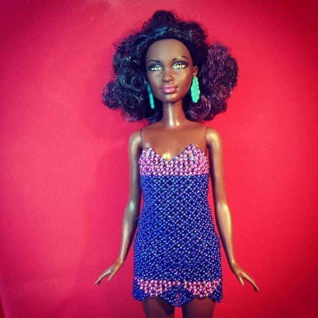 #beads #doll #handmade #ooak #dress #barbie #craft