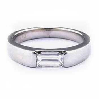 Diamond Inset Wedding Rings