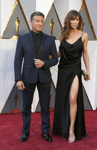 SYLVESTER STALLONE AND JENNIFER FLAVIN AT THE 2016 OSCARS RED CARPET http://zntent.com/sylvester-stallone-and-jennifer-flavin-at-the-2016-oscars-red-carpet/