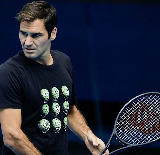 AO 2018 - Roger Federer - Entraînement - Rod Laver Arena - Melbourne