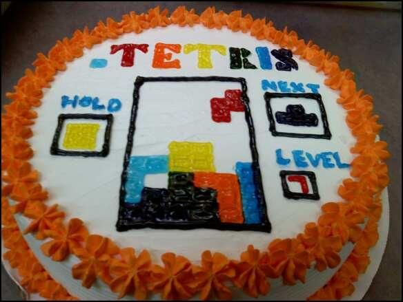 Best Competitive Cakes Images On Pinterest Awesome Cakes - Tetris birthday cake