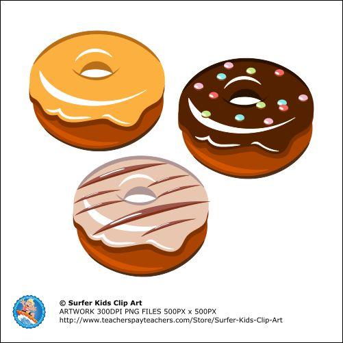 Full detailed Clip Art Donuts