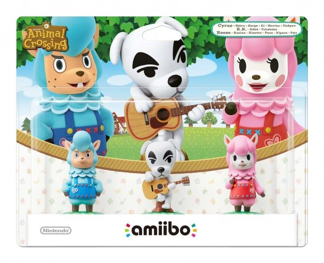 Packaging for the Animal Crossing amiibo figures