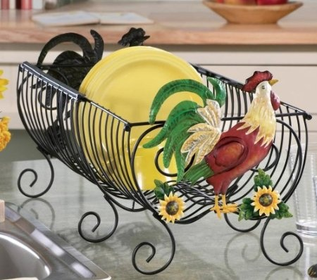Cute Rooster Kitchen Dish Drying Rack By Collections Etc Home Kitchen Roosters