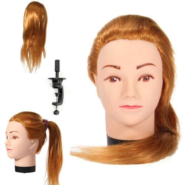 la formación práctica abrazadera de la peluquería el pelo largo maniquíes rubias cabeza