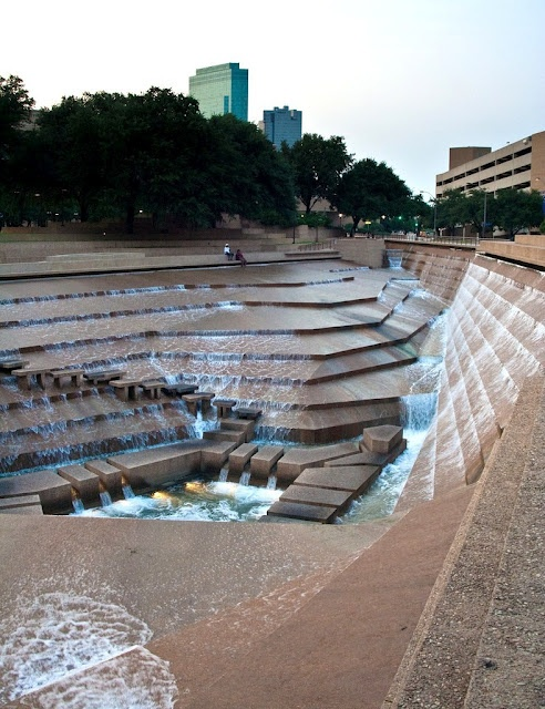 Fountain used in Logan's Run. This is the Forth Worth