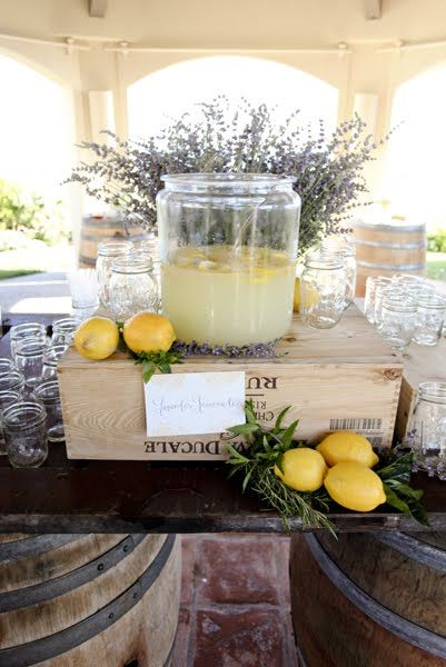 a lemonade bar - JL DESIGNS: helen and mike - the ritz-carlton, laguna niguel