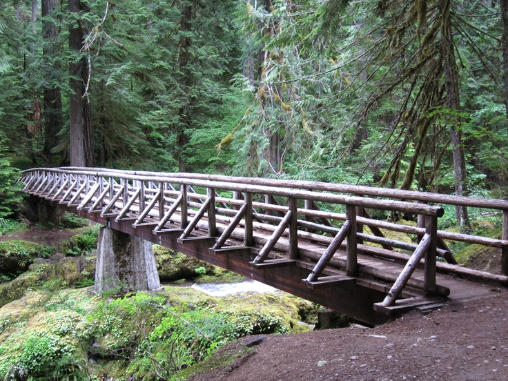 Wooden Foot Bridge In Mt Hood Oregon