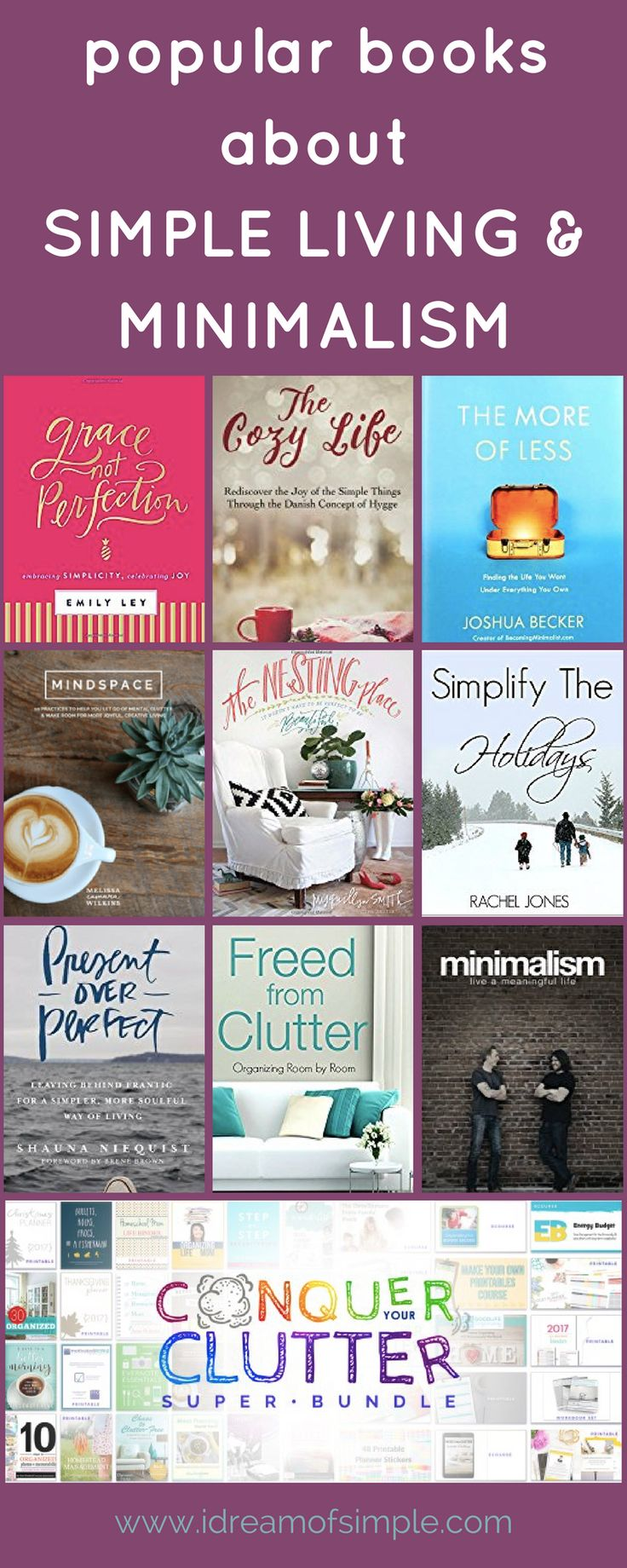 Read about some of my favorite books on simple living and minimalism