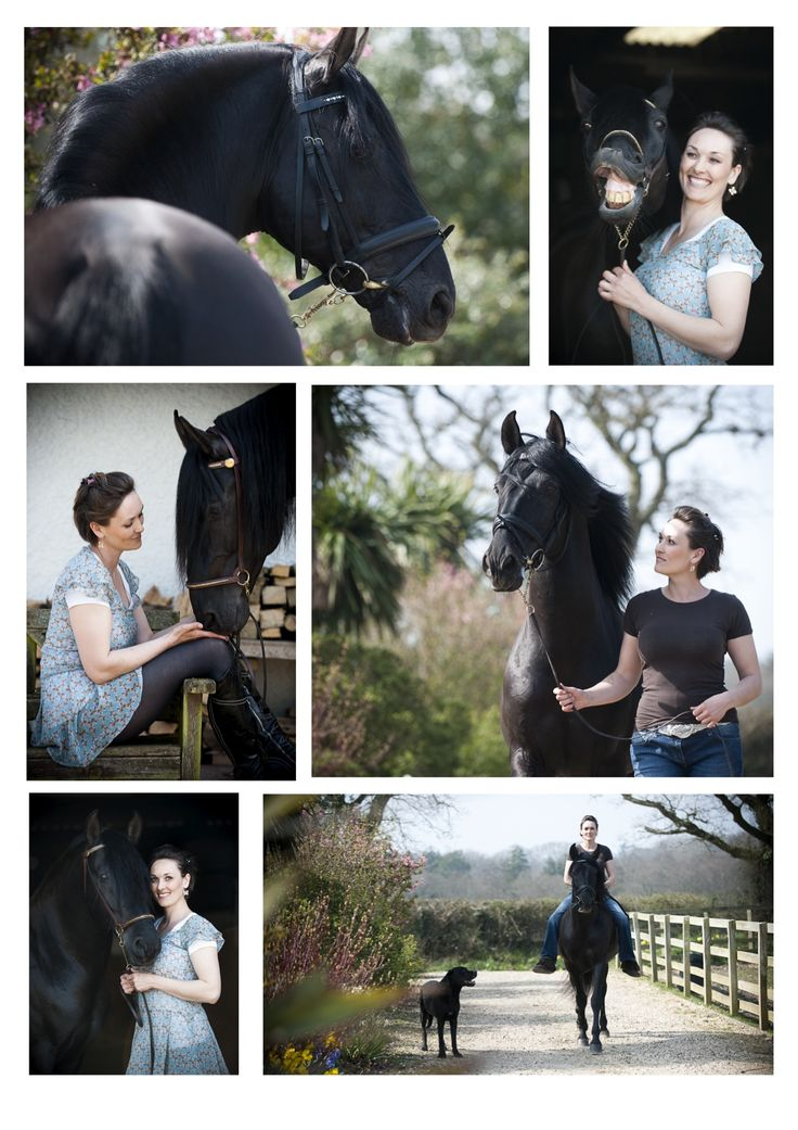 Horse/owner portrait pose.