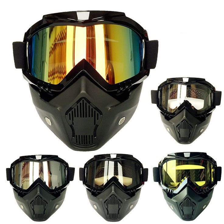 ==> [Free Shipping] Buy Best Vintage Mask Goggles Brand Ski Detachable For Half Helmet Glasses Motorcycle Men Women Oudoor Cycling Motocross Glasses Gafas Online with LOWEST Price | 32798255383