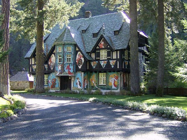 Cottage at Wyntoon, Randolph Hearst's summer home in N. California, designed by architect Julia Morgan.