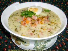 W Mojej Kuchni Lubię.. : żurek na śląskiej kiełbasie z jajkiem...