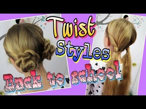 2 BACK TO SCHOOL Twist Frisuren coole Mädchen Zöpfe&Frisuren - YouTube