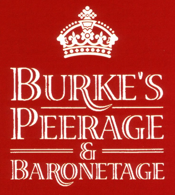 BURKE'S PEERAGE - - was established in London in 1826 by John Burke and has become the definitive guide to the genealogy & heraldry of the Peerage, Baronetage, Knightage & Landed Gentry of the United Kingdom, the historical families of Ireland & the Commonwealth of Nations, the Imperial, Royal and Mediatised families of Europe and Latin America, the Presidential & distinguished families of the United States, the ruling families of Africa and the Middle East & other prominent families…