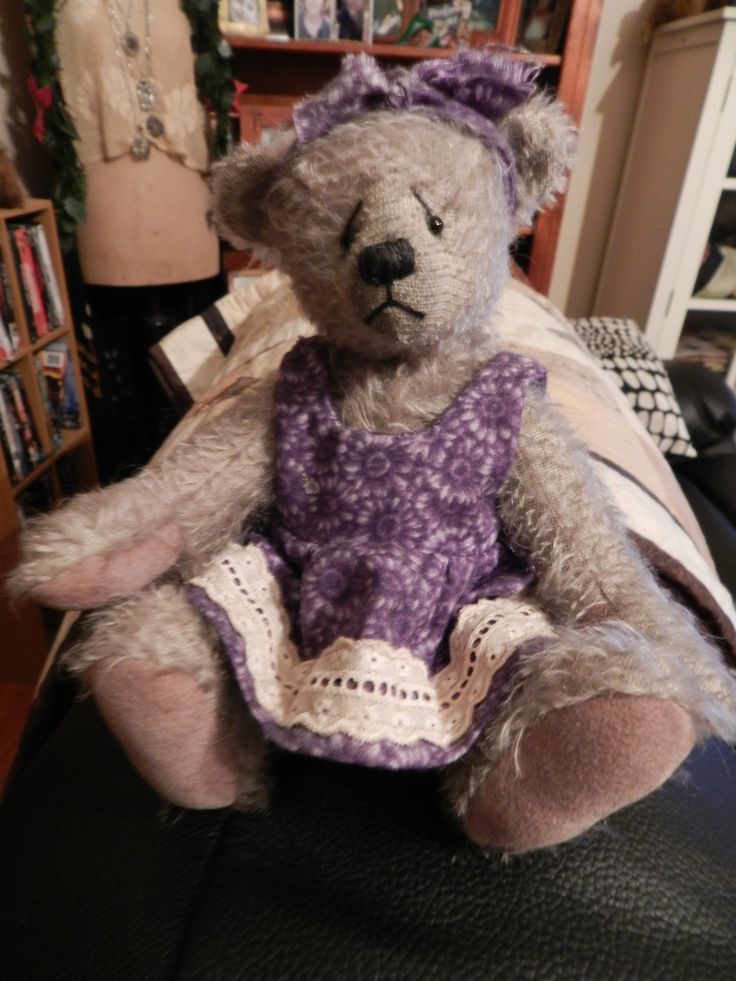 """Mohair Bear """"Penny """"  Designed and made by myself  <3"""