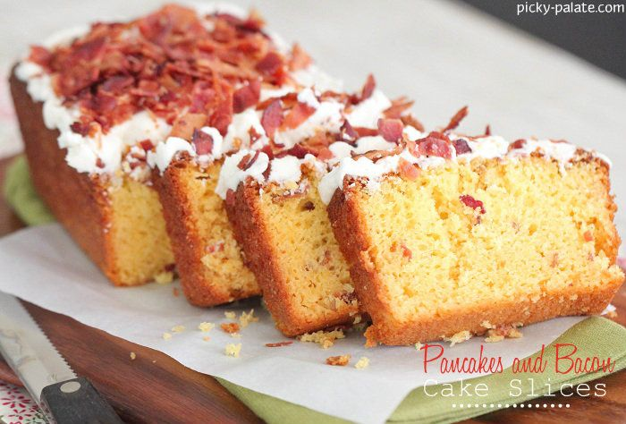 Pancakes and Bacon Cake with Maple Buttercream