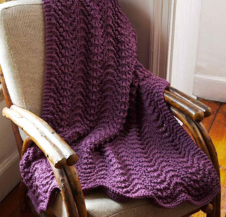 Cromwell Court Afghan by Lion Brand Knit Blanket Kit - None