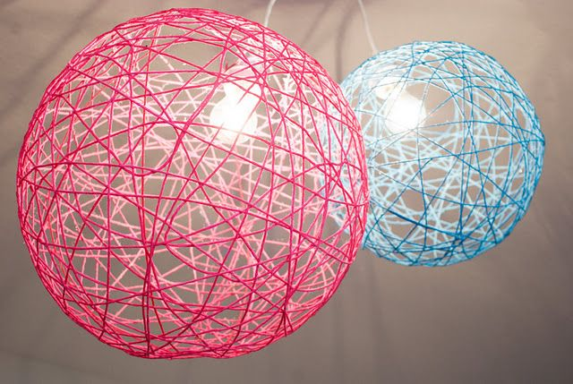 Yarn Orb Light Fixtures Love For A Kids Room Very Cool