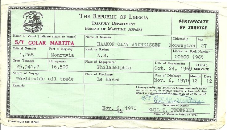 I stopped on my last boat Golar Martita 40,000 tons to pattern of Le Havre, to never went more out at sea again in 1970 But longing often out to sea again .