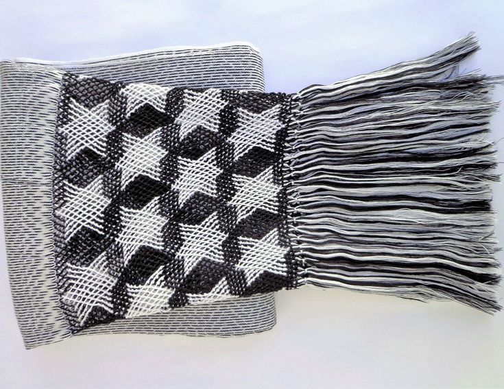 Mexican Handwoven Rebozo Sarape Shawl Wrap Pareo Scarf Runner From Tenancingo With Stars drawings
