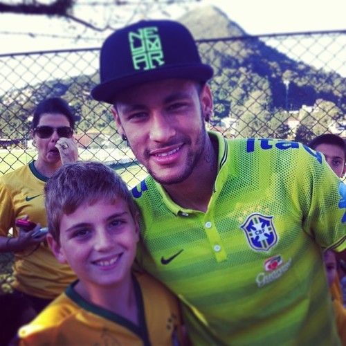 With his fans