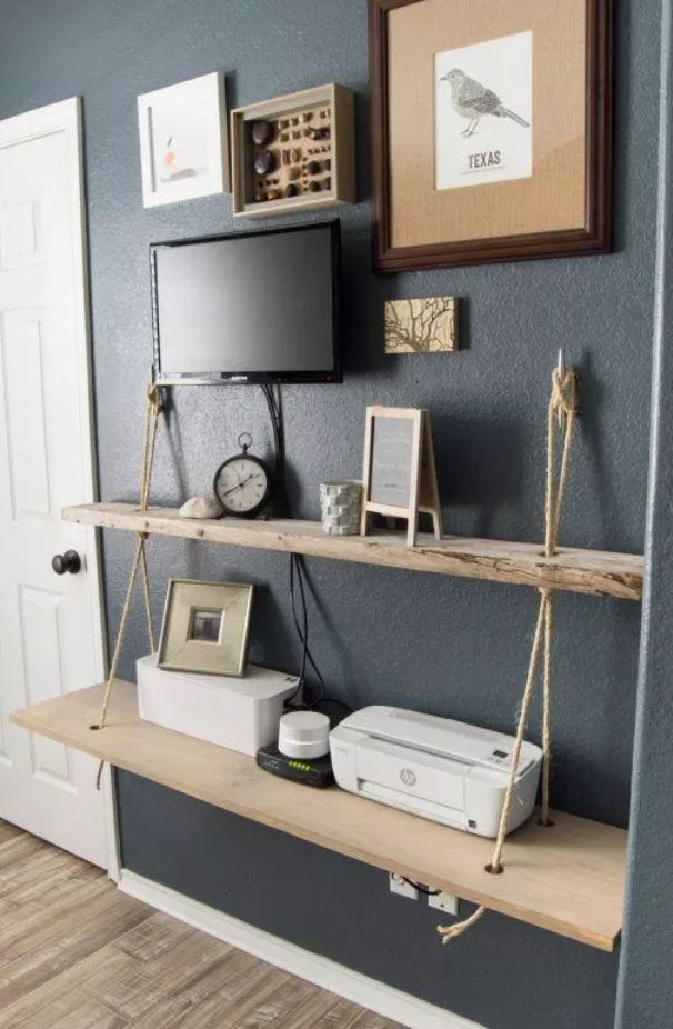 Diy Rope And Wood Nautical Shelf Nautical Shelves Diy Wood