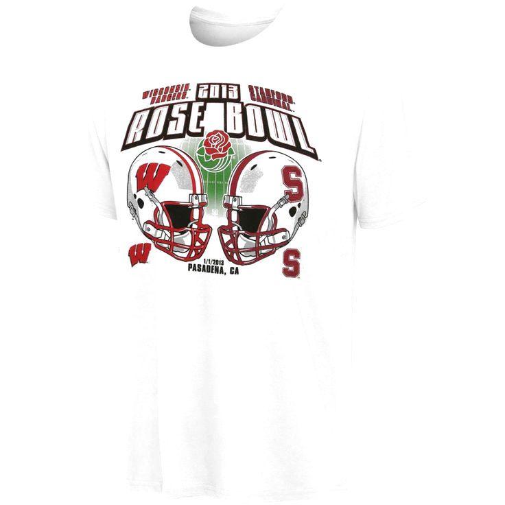 Stanford Cardinal vs. Wisconsin Badgers 2013 Rose Bowl Match-Up T-Shirt - $13.29