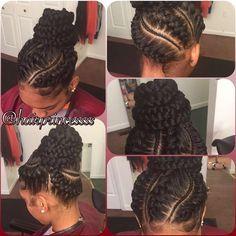 U N D E R B R A I D Q U E E N 🎀 #hairbydominique #braidsbydominique #braids #underbraids #pressed #perfect #natural #hairprincessss #bun #braidedbun Follow my business page for booking info @princessvirginremy @princessvirginremy @princessvirginremy