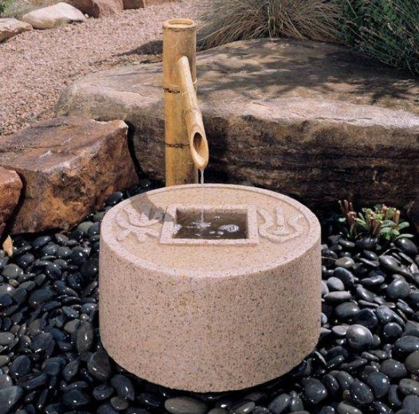 21 best Tsukubai images on Pinterest Water fountains, Garden - gartenbrunnen modernes design