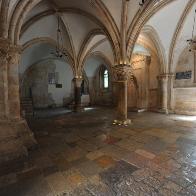 """The """"Upper Room"""": not only the site of Jesus' Last Supper (i.e. the Cenacle), but the usual place where the Apostles stayed in Jerusalem."""