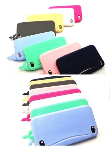Whale Silicone Case Cover with Card Holder for iPhone 4 4S iPhone 5 Gift   eBay