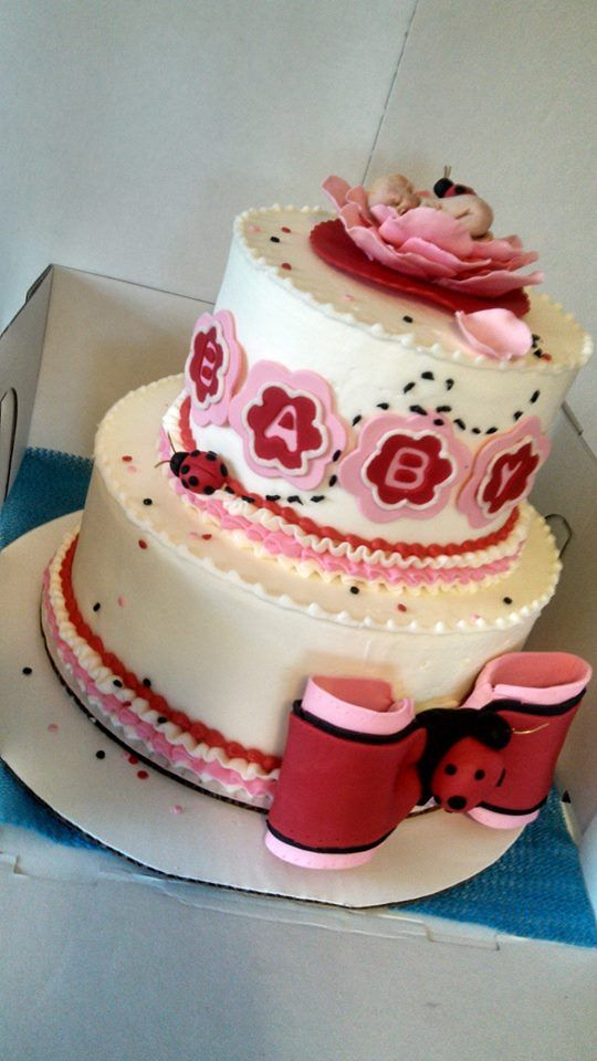 lady bug baby shower cake baby shower cakes showers girls ladybugs
