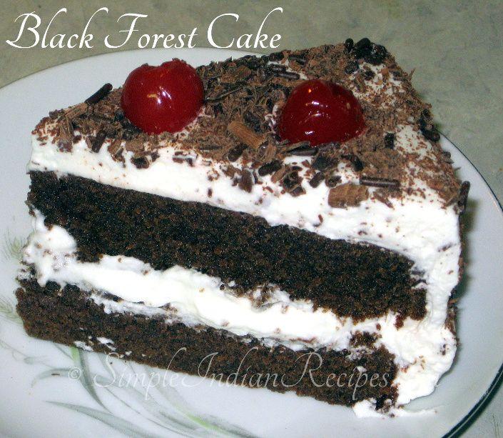 Yummy Black Forest Cake recipe @ http://simpleindianrecipes.com/blackforestcake.aspx