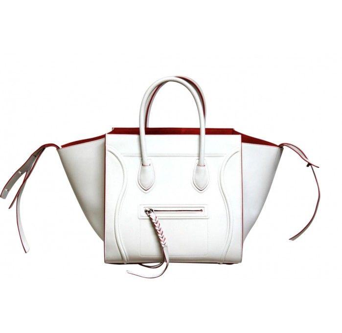 White Celine Phantom Bag- Limited Edition Nappa Calf Leather ...